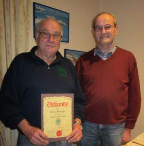 Johann Wenninger 25 Jahre Mitgliedschaft